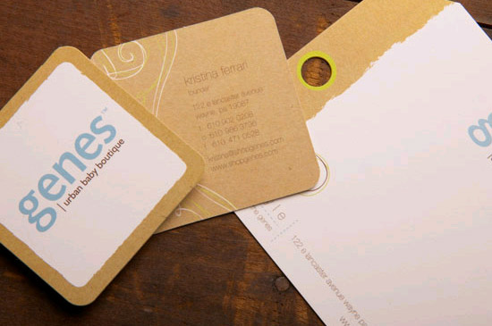 Unique Square Business Cards – Genes