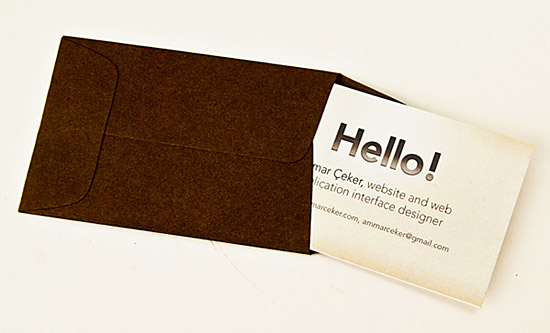 Cool Business Card in an Envelope