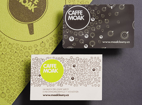 Unique Business Card Design – Caffe Moak | CardRabbit.com