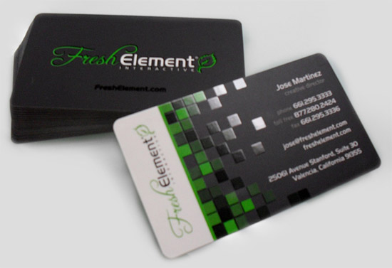 Unique Business Card – Fresh Element | CardRabbit.com