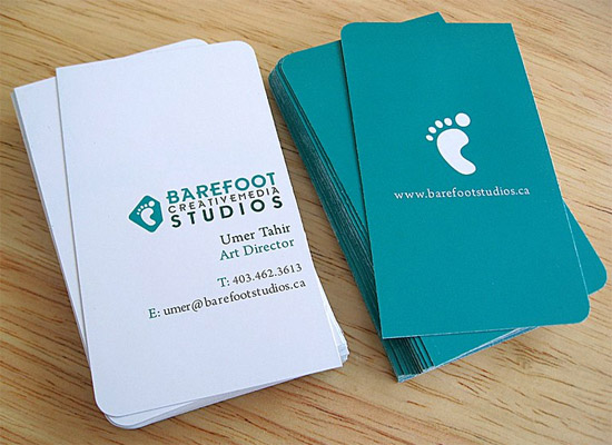 Cool custom business cards barefoot studios cardrabbit cool custom business cards barefoot studios colourmoves Image collections