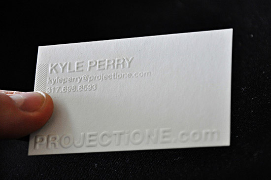 Cool letterpress business card projectione cardrabbit cool letterpress business card projectione colourmoves Gallery