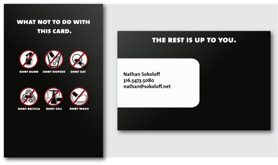 Funny Business Card - Nathan Sokoloff