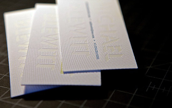 Letterpress Business Card - Michael Blewitt