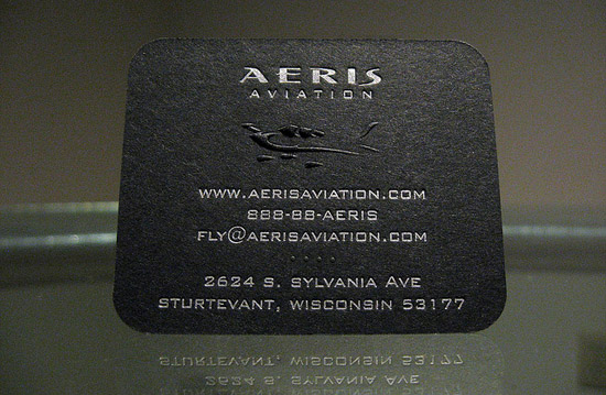 Unique business card aeris aviation cardrabbitcom for Www aviationbusinesscards com