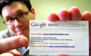 Creative Google Business Card - Dallas Laser Printer