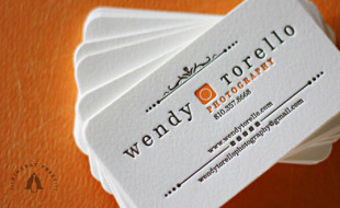 Creative Letterpress Business Card - Wendy Torello