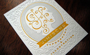 Letterpress Business Card - J. Hische