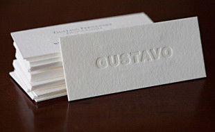 Minimalistic Letterpress Business Card - Gustavo
