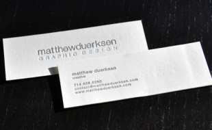 Minimalistic Letterpress Business Card – Matthew Duerksen