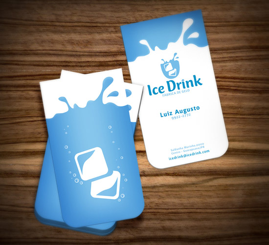 Awesome Business Card Design Ice Drink CardRabbitcom