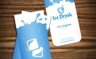 Awesome Business Card Design - Ice Drink