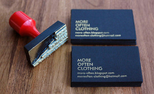 Cool Stamped Business Card