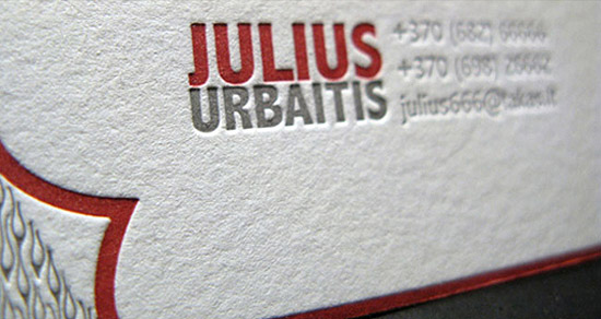 Great Letterpressed Business Card