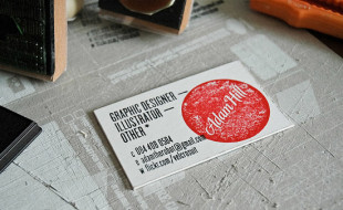 Stamped Business Card – Adam Hill