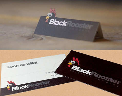 Cool and Unique Business Card – Black Rooster