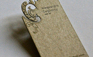 Unique Laser-Cut Business Card