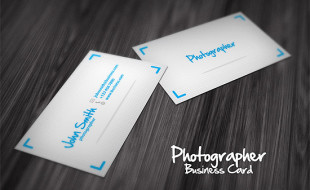 Cool Business Card Design for a Photographer