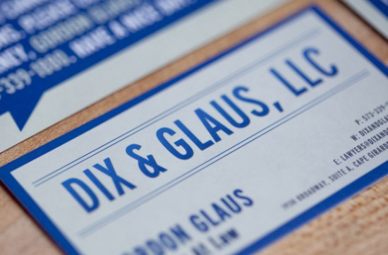 Cool and Funny Business Card - Dix & Glaus