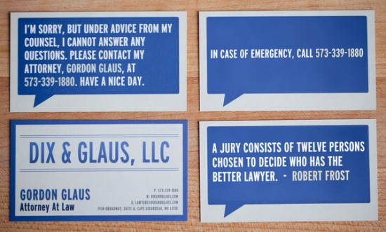 funny business cards. Cool and Funny Business Card