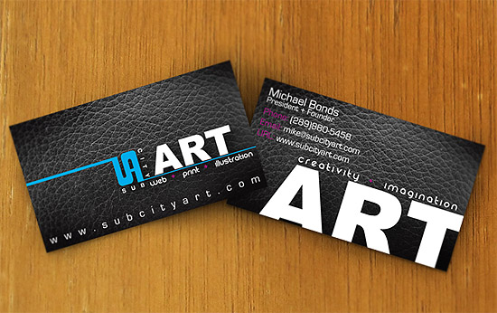 Cool Business Card Sub City Art Cardrabbit