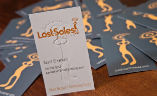 Creative Business Card - LostSoles Climbing