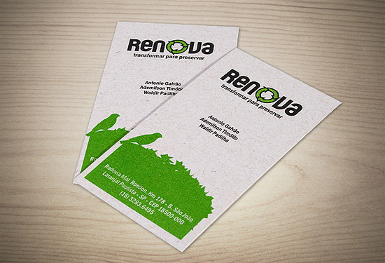 Eco Friendly Business Cards - Renova