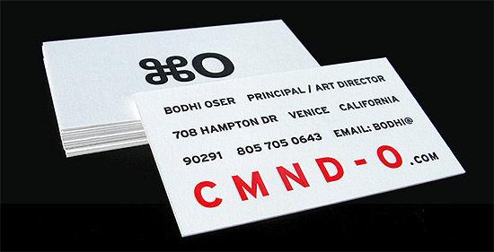 Letterpress business card cmnd o cardrabbit letterpress business card cmnd o reheart Choice Image