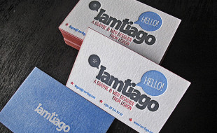 Letterpressed Business Cards – I am Tiago
