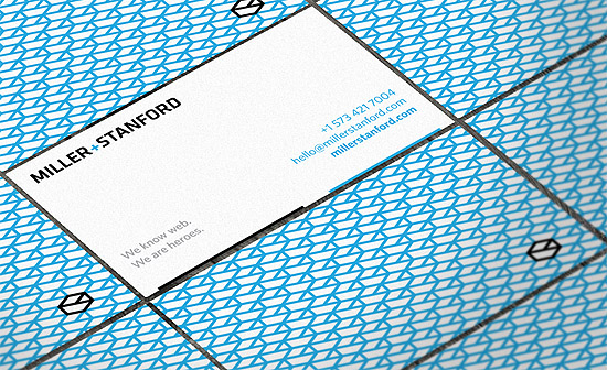 Minimalistic Business Card - Miller + Stanford