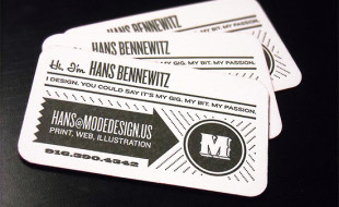 Letterpress Business Card – Hans Bennewitz