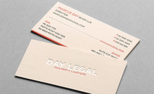 Letterpressed Business Cards – Day Legal