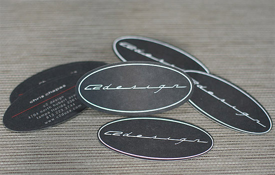 Unique Oval Business Card - C2 Design