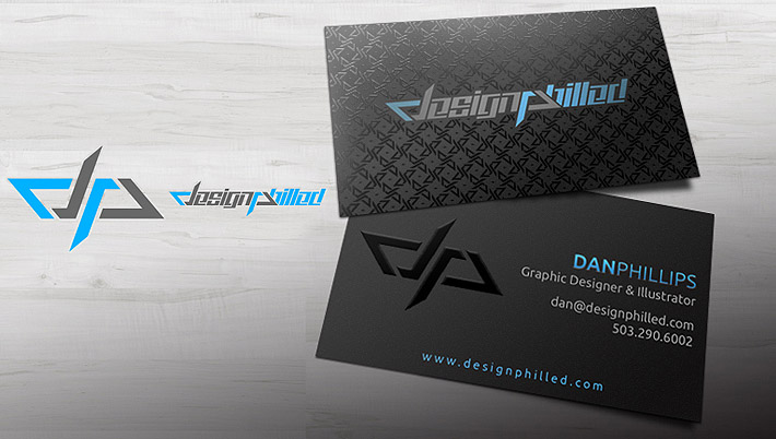 cool business card by graphic designer dan phillips from design