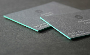Cool Edgepainted Business Cards – The Ubiquitous