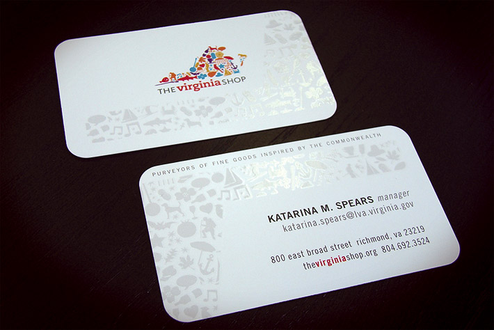 Creative Business Card – The Virginia Shop