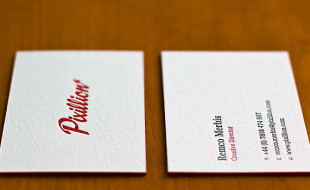 Letterpress Business Cards – Pixillion