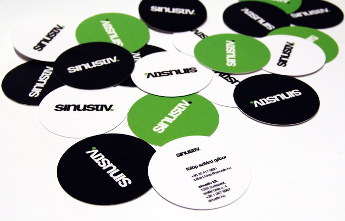 Round Business Cards – Sinustiv