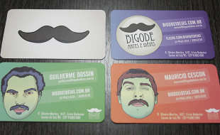 Unique Business Card – Bigode Ideias