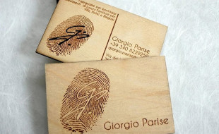 Unique Laser Cut Business Cards Out of Birch Wood