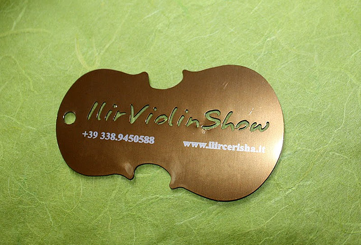 Unique metal business card ilir violin show cardrabbit inshare reheart Image collections
