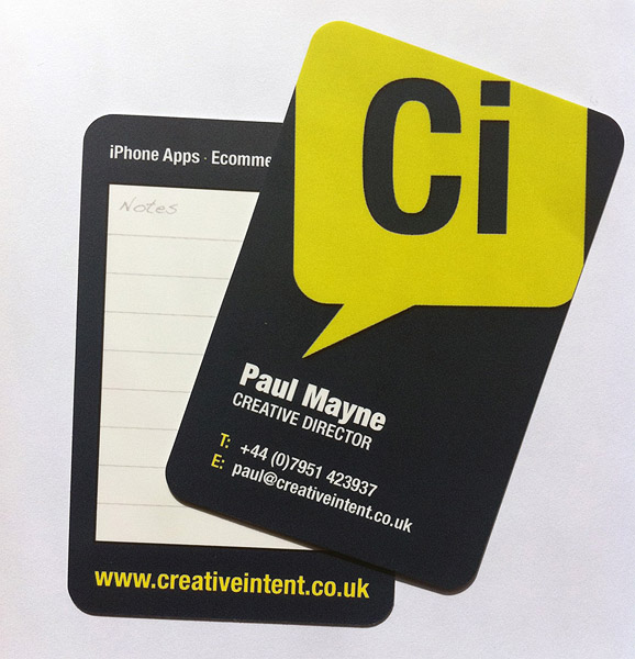 Cool business card creative invent cardrabbit inshare reheart Image collections