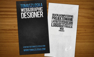 Cool Business Card Design – Tomasz Loska