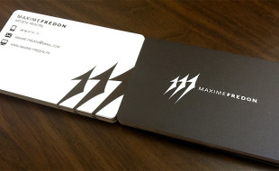 Cool Minimalistic Business Cards – Maxime Fredon