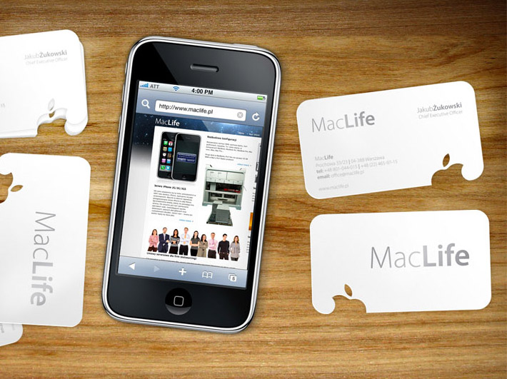 Unique minimalistic business card mac life cardrabbit inshare reheart Image collections
