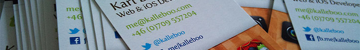 Cool Business Card - Kalleboo