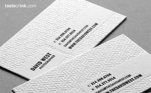 Cool Letterpress Business Card – David West