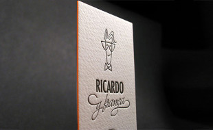 Unique Letterpressed Business Card – Ricardo G Franca