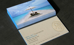 Beautiful Letterpress Business Card – Musha Cay
