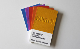 Custom Letterpress Business Cards for a Painter
